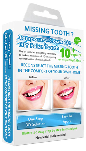 Best value missing tooth temporary teeth replacement repair false ready tooth can be tinted to match your natural teeth colour looks very realistic and lasts for months full step by step instructions provided solutioingenieria Image collections